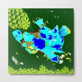 Blue Anglerfish Metal Print