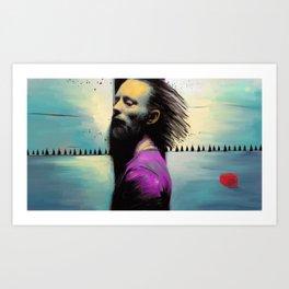 """Thom Yorke """"Radiohead"""" Art Print"""