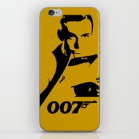 james bond iPhone & iPod Skins featuring 007 James Bond by Walter Eckland