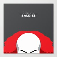 pennywise Canvas Prints featuring Pennywise by Mr. Peruca