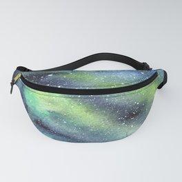 Galaxy Nebula Watercolor Northern Lights Aurora Borealis Fanny Pack