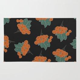 Seamless Pattern of autumn rowan Rug
