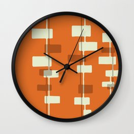 Organic - Orange Wall Clock
