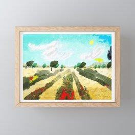 Olive Trees Framed Mini Art Print