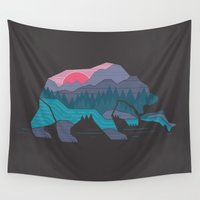 country Wall Tapestries featuring Bear Country by Rick Crane