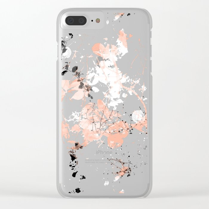 Black Spring II Clear iPhone Case