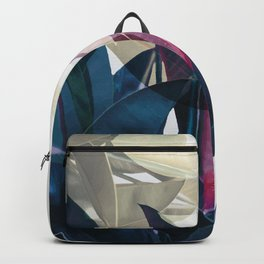 Tropical Leaf Print Backpack