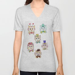 Kitties Galore Unisex V-Neck