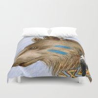 medicine Duvet Covers featuring Medicine Bear by Brandy Woods