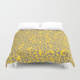 Yellow Flower explosion Duvet Cover