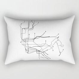 New York City White Subway Map Rectangular Pillow