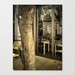 Art is everywhere ! Firenze Italy restaurant Canvas Print