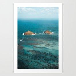 Na Mokulua Islands off Oahu's Coast Art Print