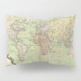 Vintage World Map Pillow Sham
