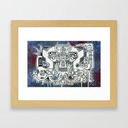 Huracan Serpent Framed Art Print