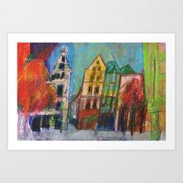 Cologne Old Market Art Print