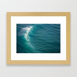 Peahi Breaks Framed Art Print