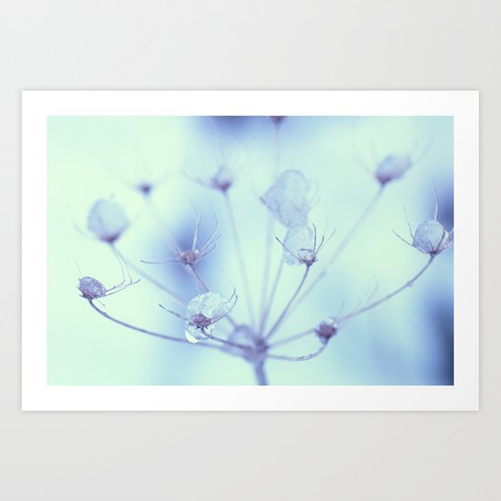 Ice Drops Art Print
