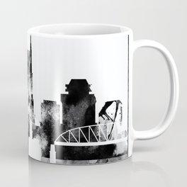 Black And White Nashville City Skyline Coffee Mug