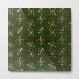 Holiday Holly Pattern Metal Print