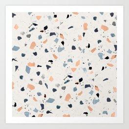 terrazzo pattern Art Print