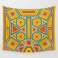 fibonacci Wall Tapestries featuring Offset Block by Brandon Paul Martinez