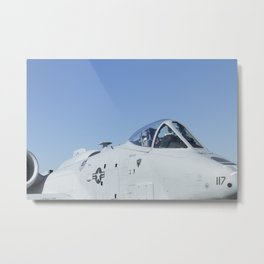 A10 A-10 Thunderbolt Warthog Military Aircraft/Airplane Detail USAF Metal Print