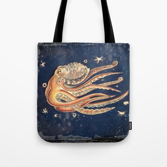 SPACEpolpo -   space octopus Tote Bag