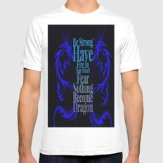 Become Dragon White Mens Fitted Tee MEDIUM