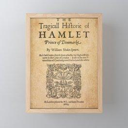 Shakespeare, Hamlet 1603 Framed Mini Art Print