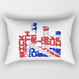 MICK KEITH CHARLIE BILL RONNIE MICK BRIAN Rectangular Pillow