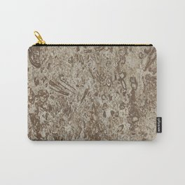 Natural Stone-Like Marble Brown Shades Carry-All Pouch