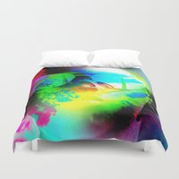 ying yang Duvet Covers featuring Ying-Yang by Tank Franklin