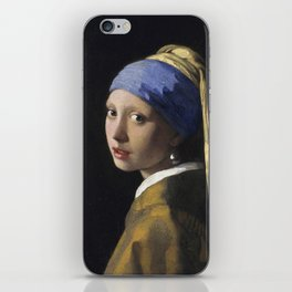 Johannes Vermeer - The girl with a pearl earring iPhone Skin