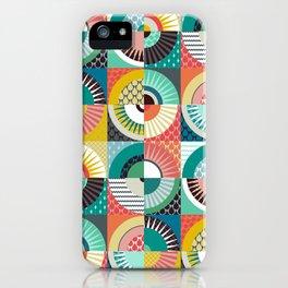 llama geo squares iPhone Case