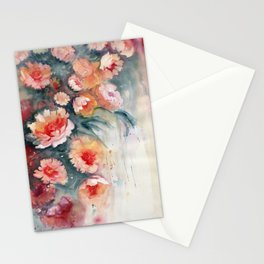 Floral Impressionist Watercolor Stationery Cards