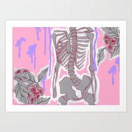 Bones and Flowers Art Print