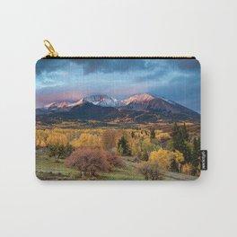 Mt. Sopris Autumn Sunrise Aspen Colorado Fall Rocky Mountains Landscape Carry-All Pouch
