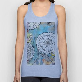 Petunia and Aster Unisex Tank Top