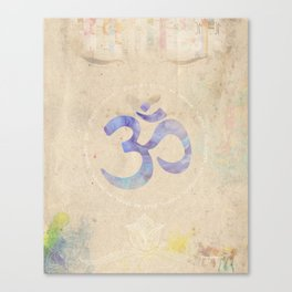 Om Water Canvas Print