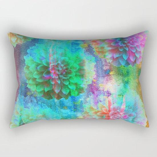 Colorful Dahlias Q Rectangular Pillow