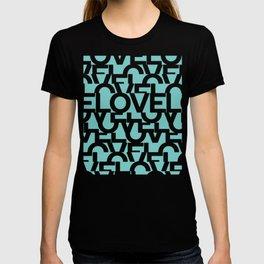 Hidden blue LOVE message T-shirt