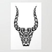 capricorn Art Prints featuring Capricorn by Mario Sayavedra