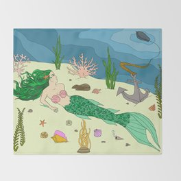 Under the Sea Throw Blanket