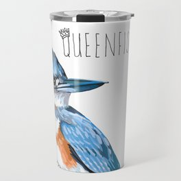 Queenfisher (Belted Kingfisher) Travel Mug