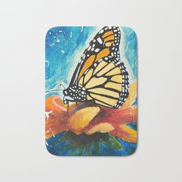 Butterfly - Discreet clarity - by LiliFlore Bath Mat