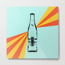 Topo Chico Retro Pop Art Metal Print