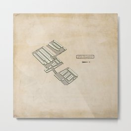 Treasure Map - 45th Chamber Metal Print
