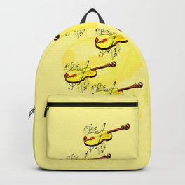 Yellow violin and notes Backpack