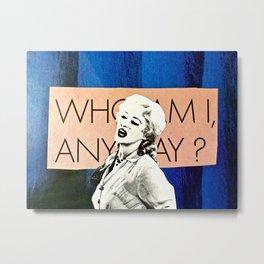 Who Am I Metal Print